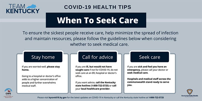 COVID Tips graphic